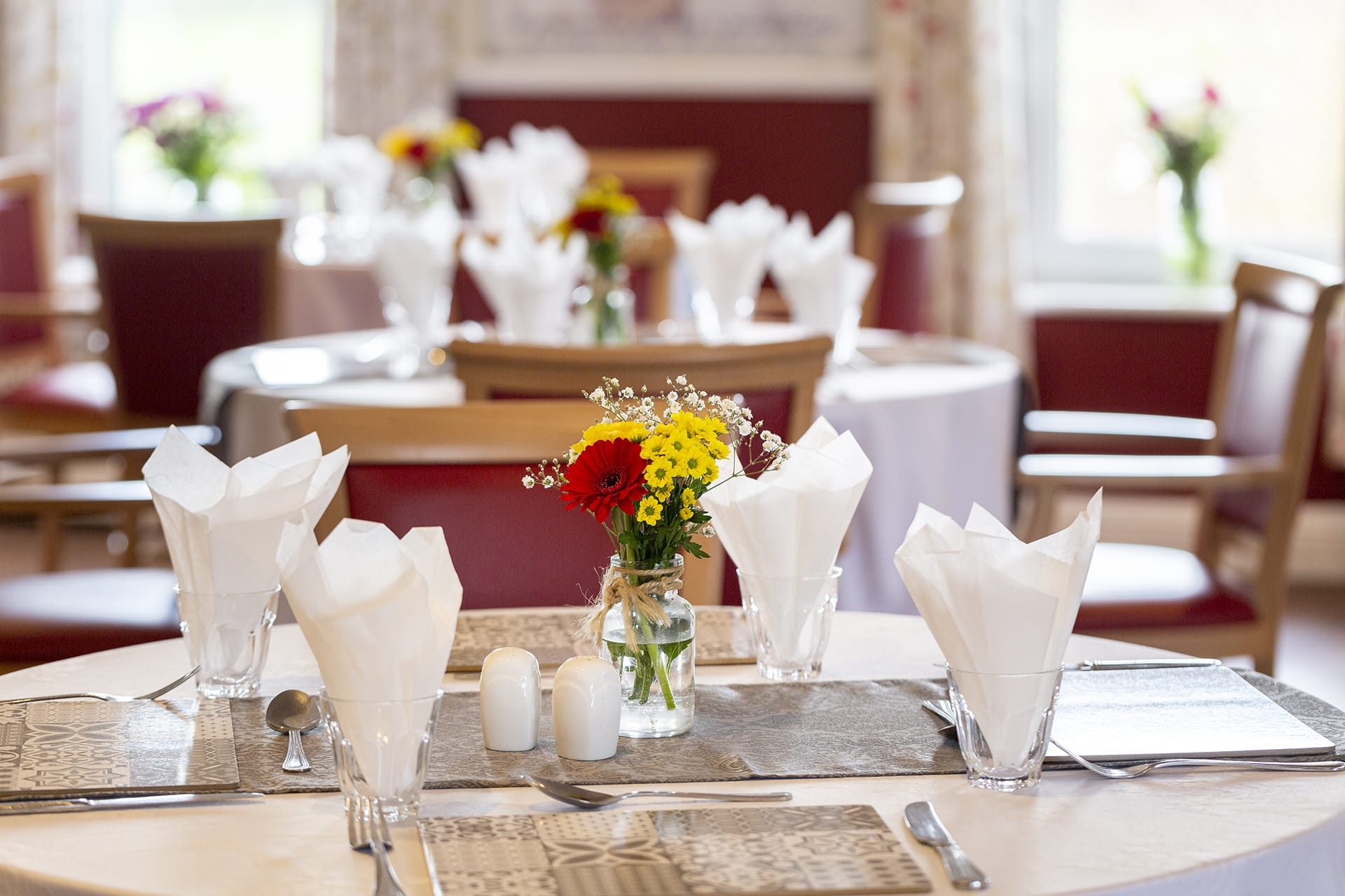 Stambridge Meadows Care Home dining table