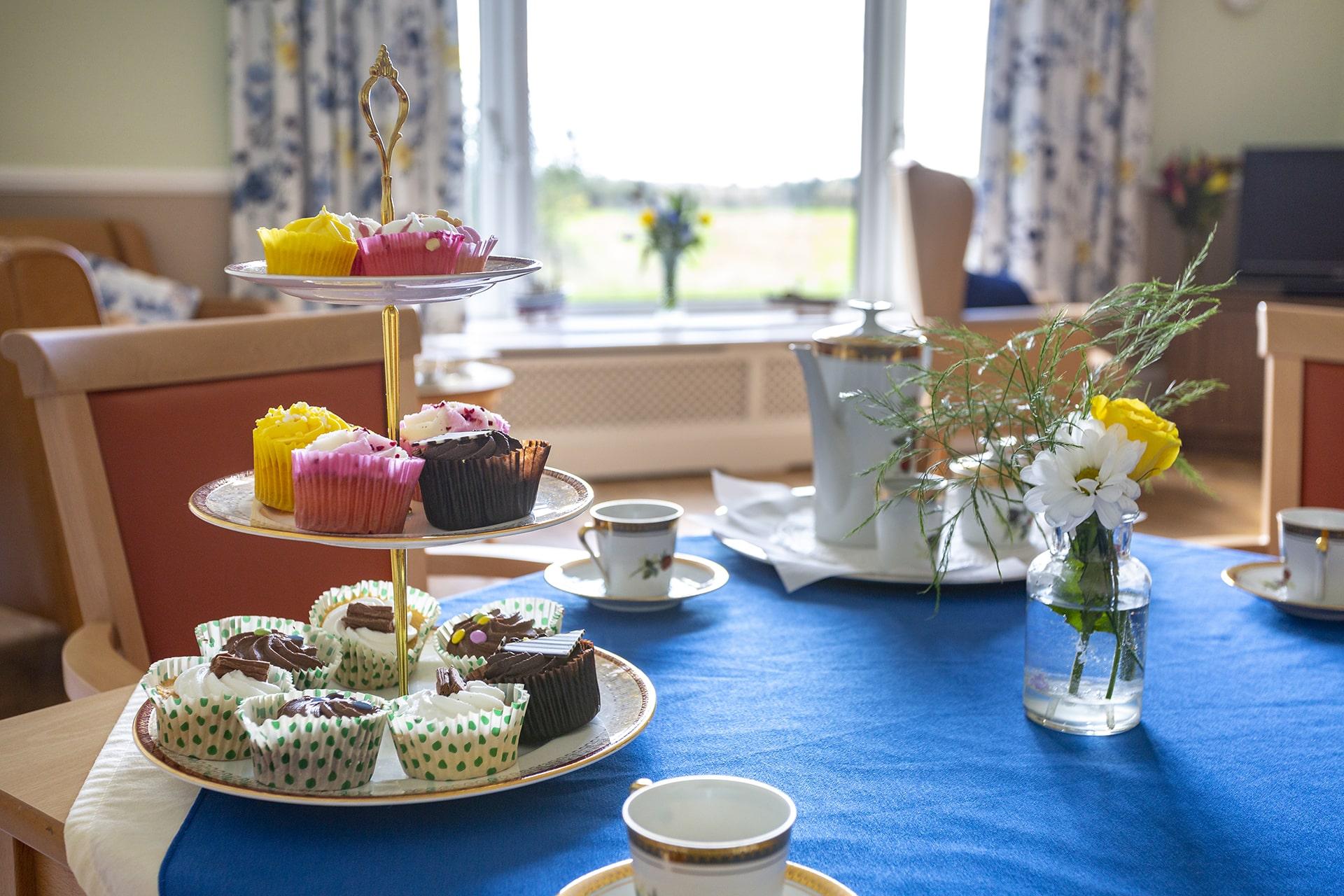 Stambridge Meadows Care Home afternoon tea table