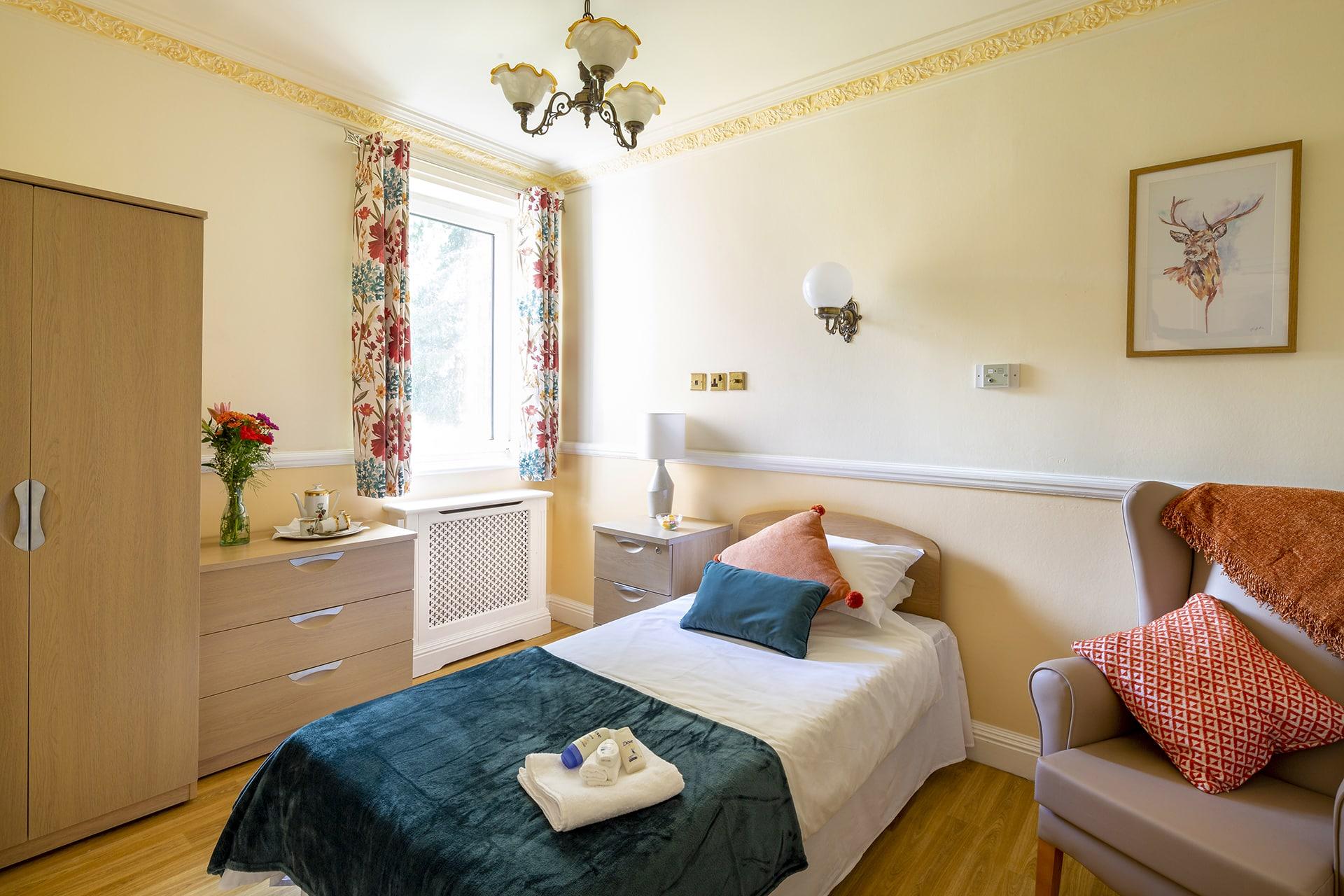 Stambridge Meadows Care Home Garden View Bedroom