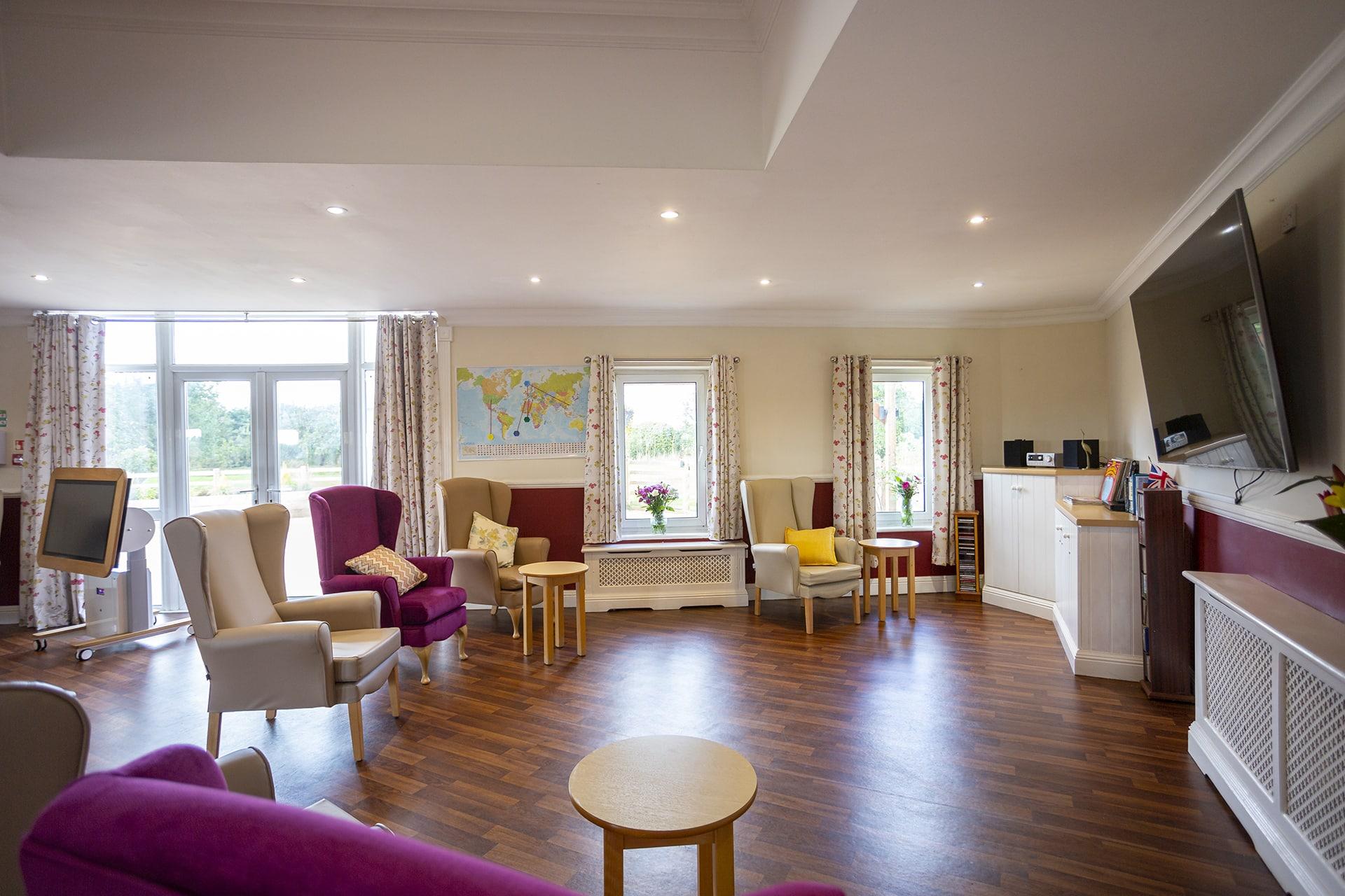 Stambridge Meadows Care Home main lounge area