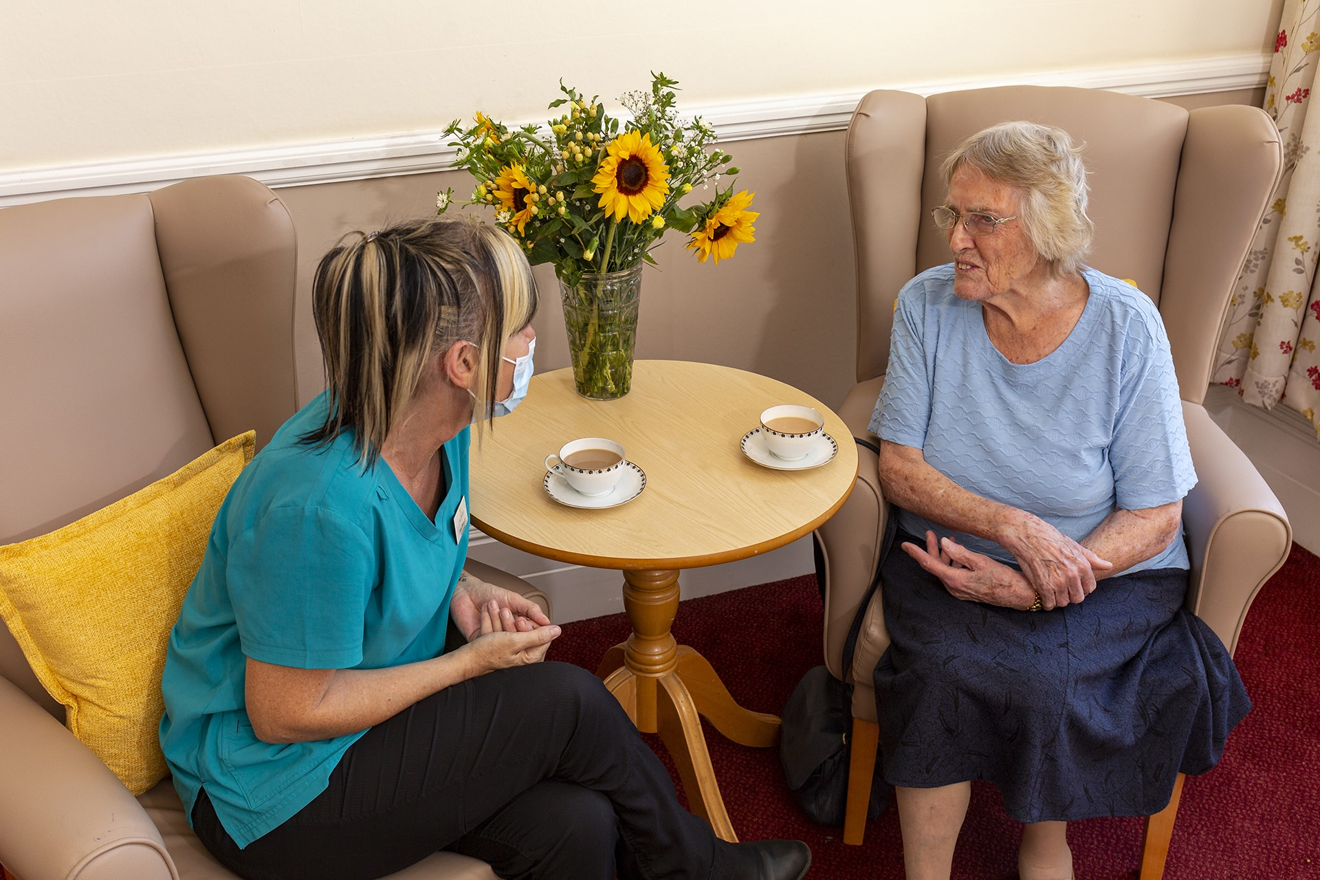 Stambridge Meadows Care Home manager and resident