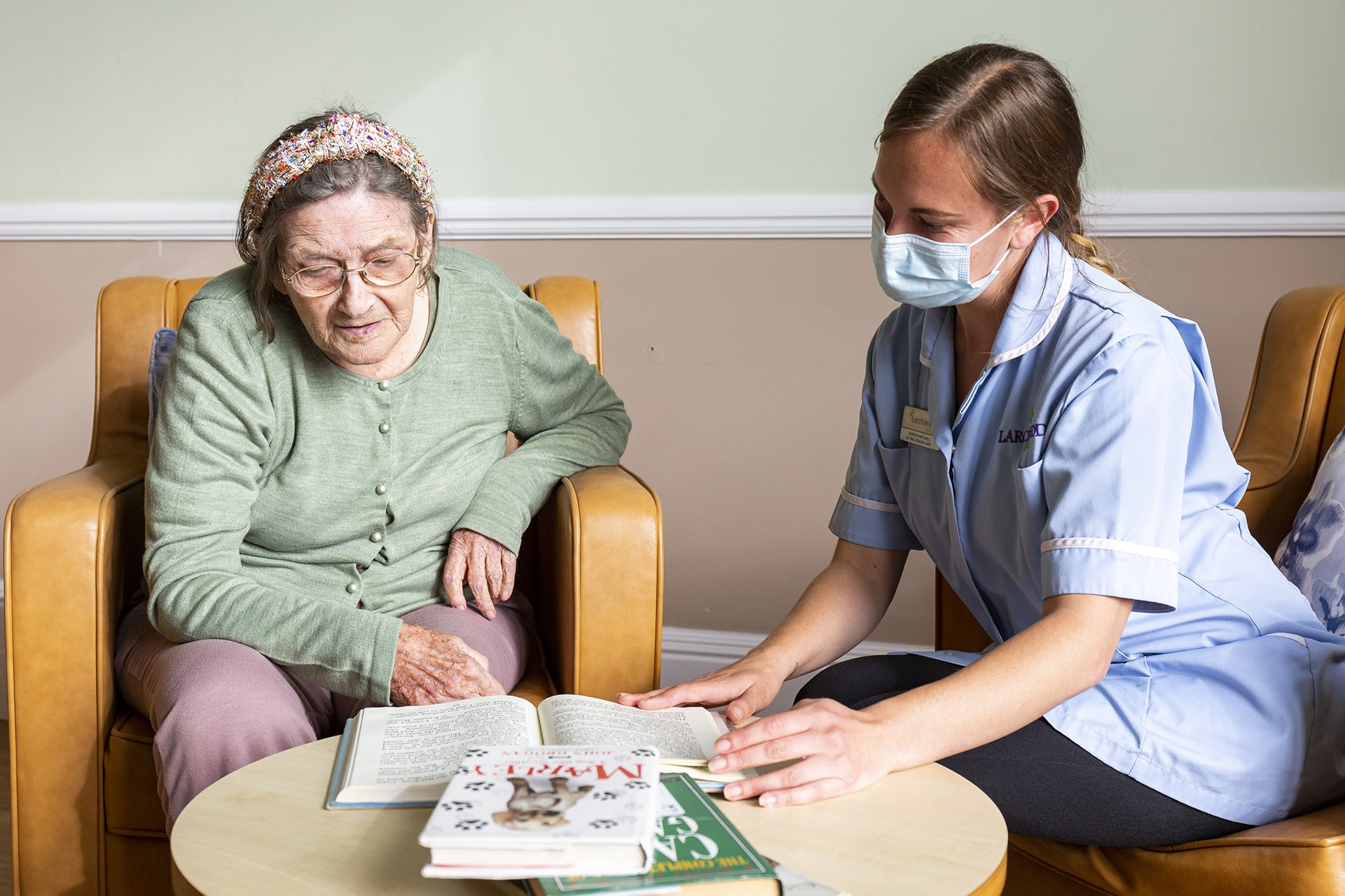 Stambridge Meadows Care Home carer and resident