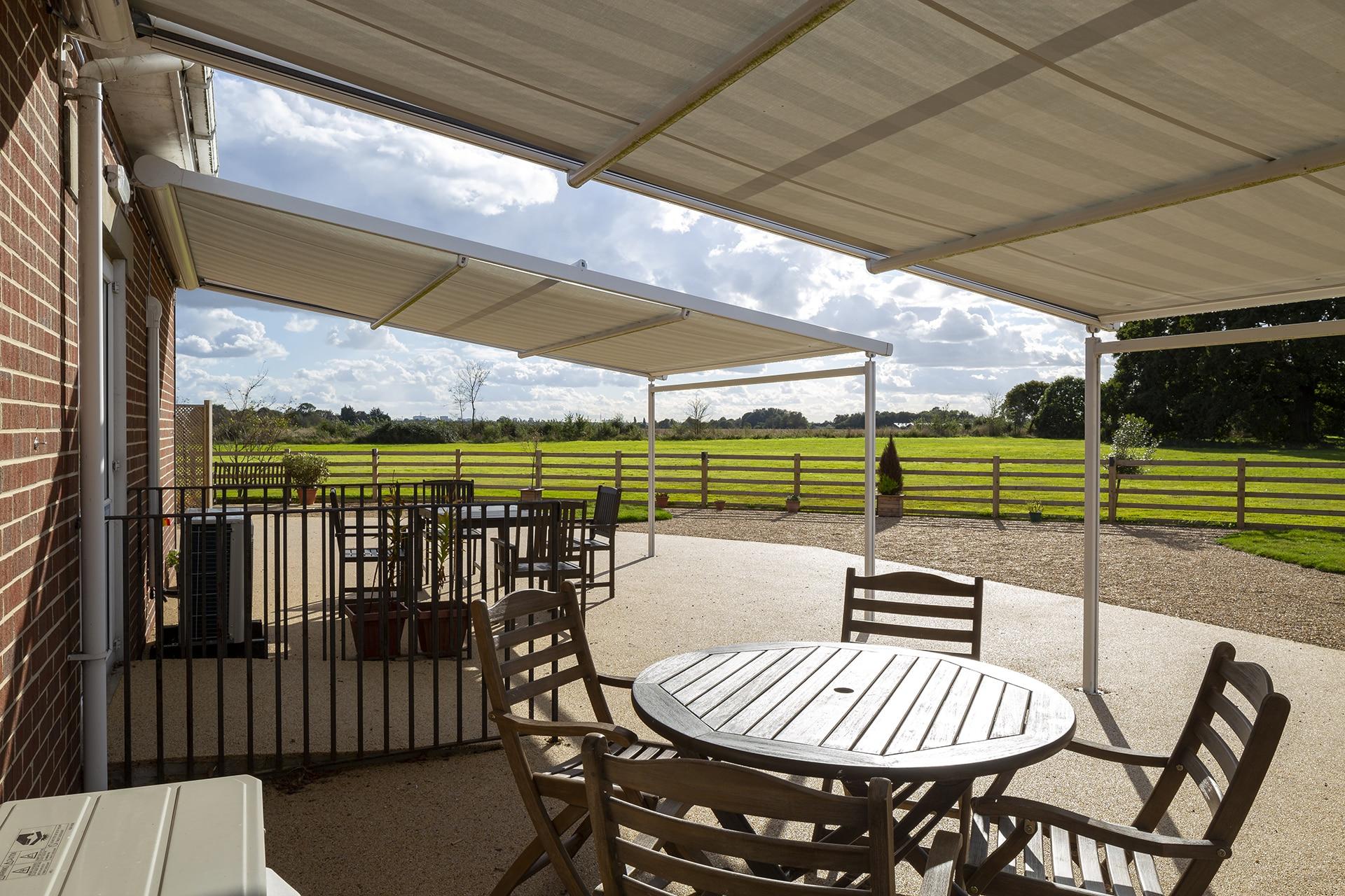 Stambridge Meadows Care Home garden terrace