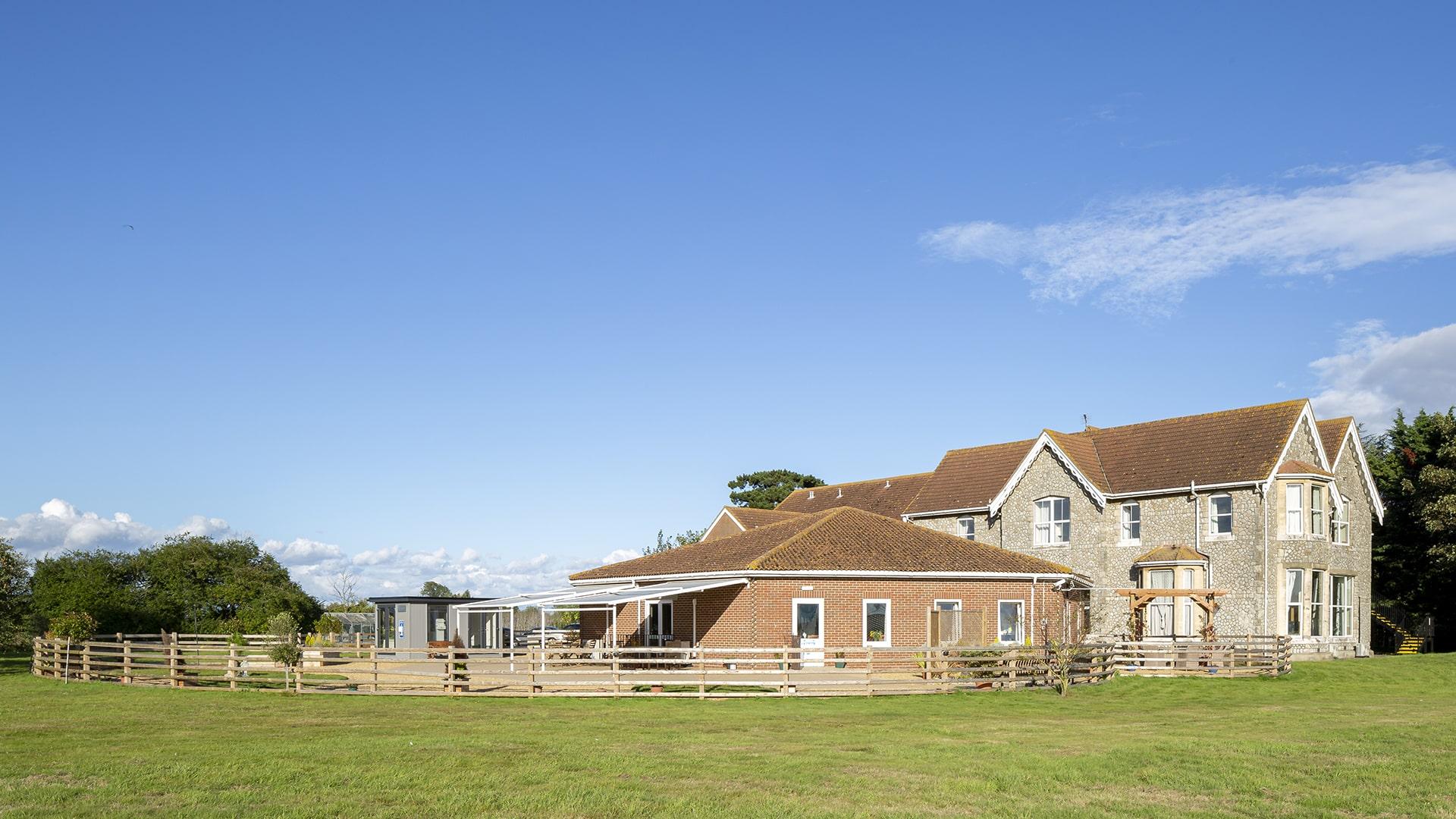 Stambridge Meadows Care Home garden area