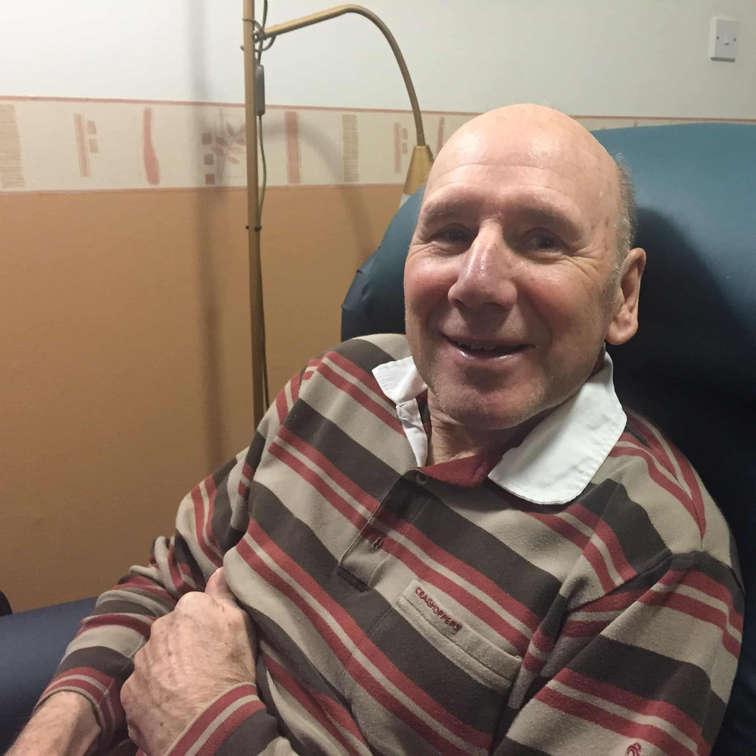 Muirton House Care Home resident Robert Clark talks about receiving his first dose of the Covid-19 vaccine.