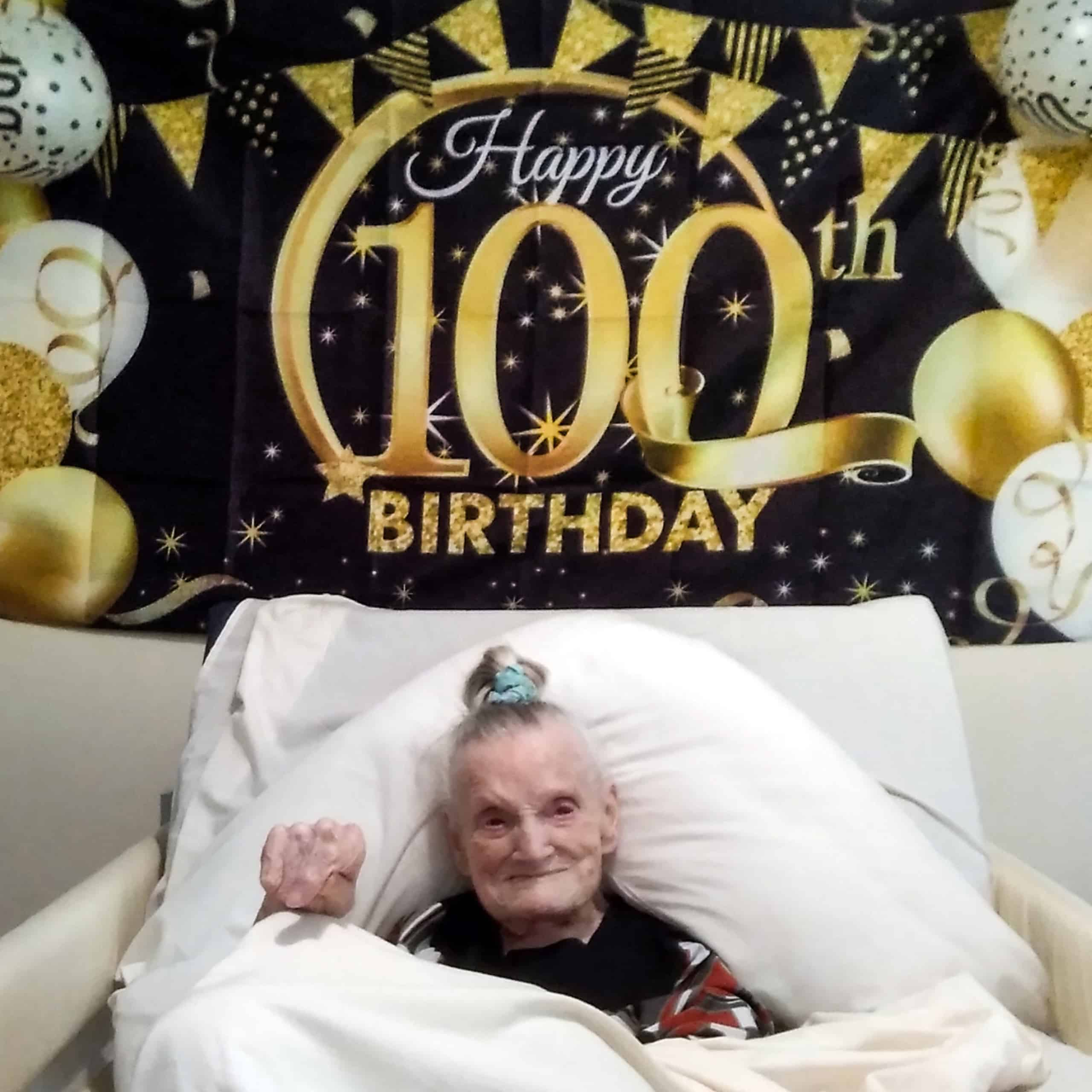 Wisbech care home resident Rena Lowen celebrates her 100th birthday at Dove Court.