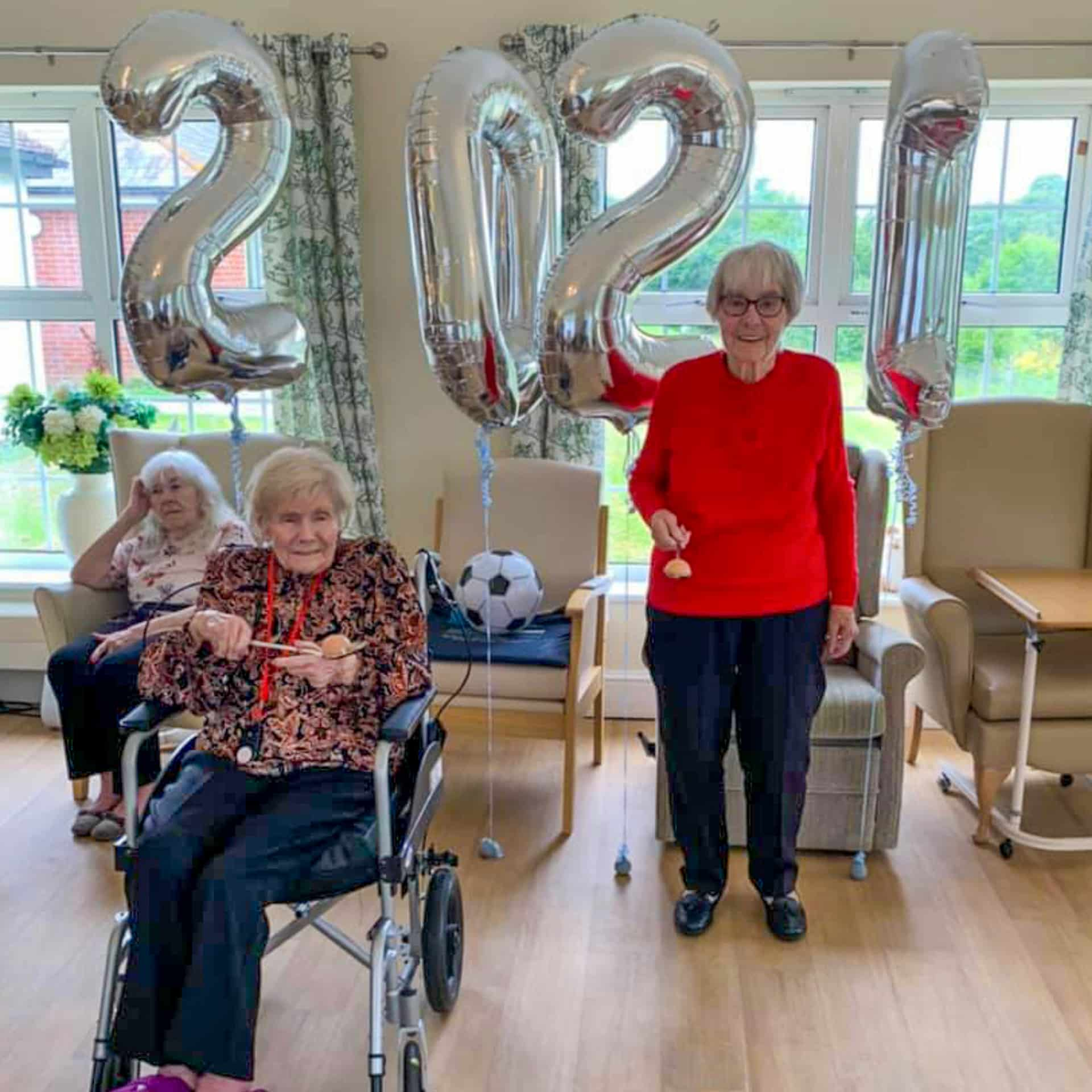 Residents of Great Horkesley Manor care home near Colchester all set for their Olympic-inspired events.